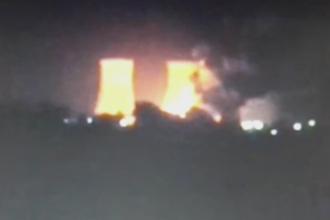 Incendiu si explozii pe platforma Combinatului Oltchim din Ramnicu Valcea. Un depozit de materiale a luat foc