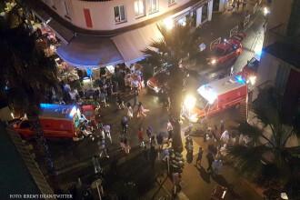 Busculada cu mai multi raniti pe Coasta de Azur, dupa o explozie intr-o zona turistica. Politia nu a gasit cauza incidentului