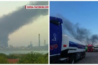 Explozie cu sase raniti la Rafinaria Petromidia din Navodari. In ce directie se va deplasa aerul poluat in urma accidentului