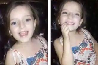 Noua dovada a suferintelor provocate copiilor de razboiul din Siria. Fetita filmata cantand fericita inainte de bombardament