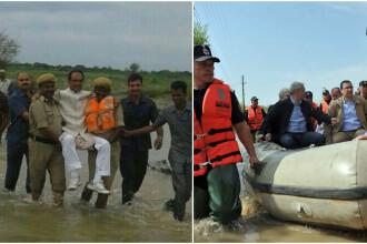 Imagine de ras cu un ministru al Indiei, in timp ce este carat de angajati, ca sa nu se ude. Situatia aminteste de Romania