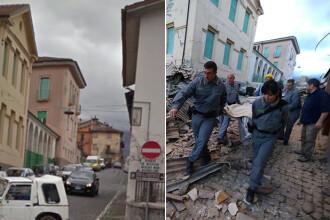 Imagini din localitatile Amatrice si Pescara del Tronto inainte si dupa cutremurul devastator. GALERIE FOTO