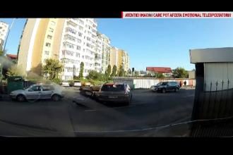 Ciocnire intre o motocicleta si o masina, in Cluj. Motivul pentru care ambii conducatori s-au trezit cu dosare penale