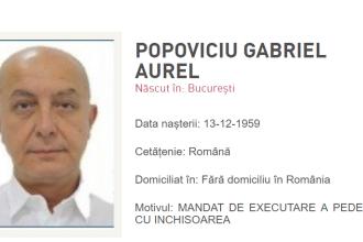 Puiu Popoviciu a fost pus sub urmărire internaţională