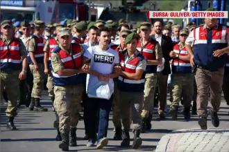 Uniformele impuse de Erdogan inculpaților pentru terorism și participare la lovitura de stat