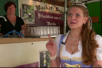 Festivalul berii în Berlin, pe o terasă imensă care apare în Cartea Recordurilor