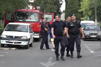 Incendiu la un apartament din Târgul Mureș, din cauza unui fier de călcat
