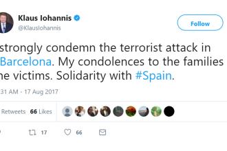 """Iohannis """"condamnă ferm"""" atacul din Barcelona. Reacția liderilor lumii"""