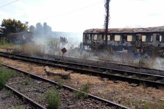 Incendiu puternic la un vagon din Gara Basarab din Capitală