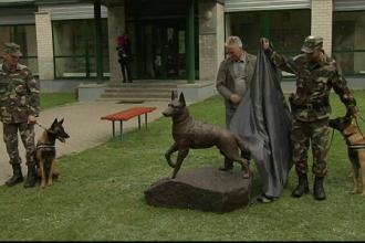 Statuie din bronz, ridicată în memoria unui câine