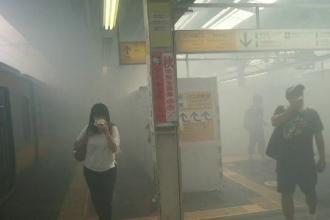 Stație de metrou din Japonia, cuprinsă de un nor uriaș de praf