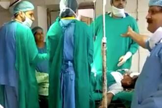 Medici din India, filmați certându-se în timpul unei cezariene