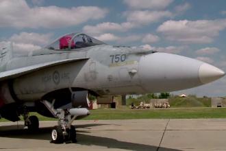 Un avion F-16 s-a împușcat cu propriul tun. Armata nu știe cum s-a petrecut incidentul