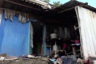 Incendiul din gospodăria unei bătrâne, lichidat de voluntari. De la ce a izbucnit