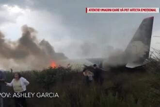 Momentul prăbuşirii avionului din Mexic, filmat de un pasager. VIDEO