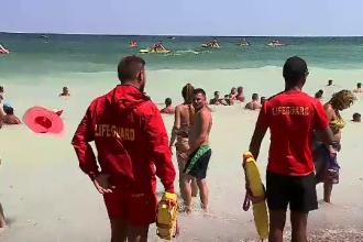 Steagul roșu arborat pe litoral. O persoană e dispărută, alta a fost salvată de la înec