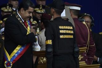 Momentul în care Nicolas Maduro este ținta unui atac. Reacția soldaților. VIDEO