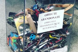 IMAGINEA ZILEI: Obiectele cu care românii încearcă să urce în avion: făcăleţ, cuţite, foarfece