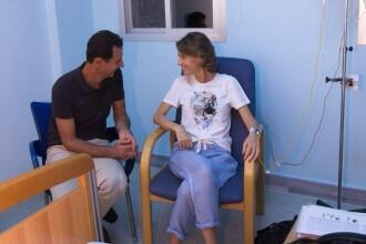 Prima doamnă a Siriei, tratată de cancer la sân într-un spital din Damasc. FOTO