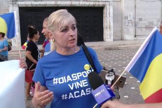 """Sosirea românilor din diaspora, salutată la Timișoara și Tg. Jiu: """"Am venit pentru a face ordine în țară"""""""