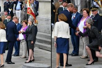 Theresa May, nouă reverență bizară. Glumele stârnite pe internet