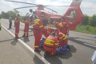 Coliziune violentă între un microbuz de marfă şi un autoturism, în Arad: un mort și 5 răniți