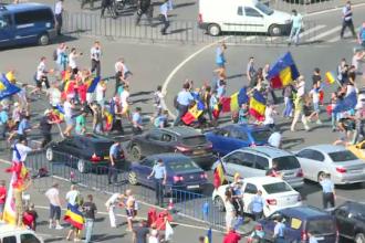 Traficul rutier din Capitală a fost deviat, ca urmare a protestului din Piața Victoriei