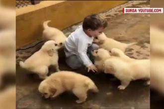 Momentul în care un băiețel încearcă să evadeze dintr-o