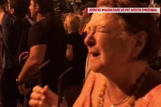 """Persoane în vârstă, afectate serios de gaze la protest. """"Suntem sătui"""""""