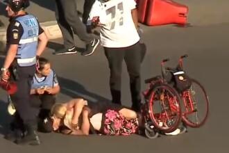 Incident incredibil în Piața Victoriei, după ce jandarmii au vrut să-l ducă pe un bărbat la secție