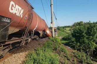 Tren cu carburant deraiat pe un viaduct, în Dolj: podul s-a rupt. IPJ: mecanicul era în stare de ebrietate