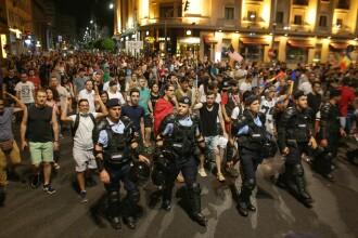 A treia zi de proteste în Piața Victoriei. Manifestația, încheiată cu un marș în Piata Universității. VIDEO