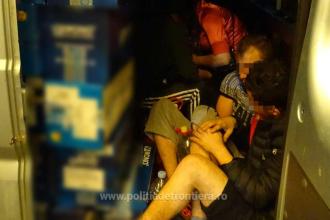 25 de migranți, prinși de polițiștii de frontieră în timp ce încercau să intre în țară. Unde erau ascunși