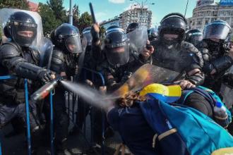 Jandarmeria Română, lămuriri privind gazele lacrimogene folosite vineri seară