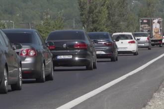 Traficul pe DN 1 spre staţiunile montane, un coșmar: