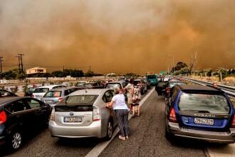 MAE: Risc ridicat de incendii, în mai multe regiuni din Grecia, începând de luni