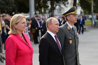 Gest surprinzător al liderului rus. Putin va asista la căsătoria ministrului austriac de Externe
