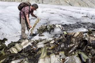 Un ghețar topit în Elveția a scos la lumină epava unui avion dispărut. De câți ani era căutat