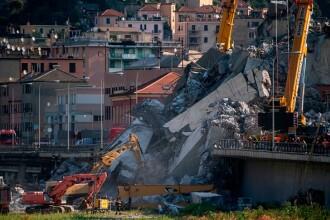 Au început lucrările la podul din Genova, unde 43 de oameni au murit vara trecută. FOTO