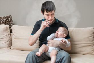 Riscurile la care sunt supuși copiii cu părinți fumători. Concluziile cercetătorilor