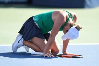 Șoc la US Open. Simona Halep, eliminată în primul tur de Kaia Kanepi, locul 44 WTA