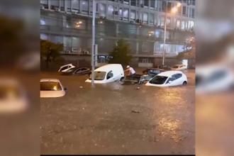 Capitala Ucrainei, inundată după o ploaie violentă. Apa a ajuns la un metru înălțime