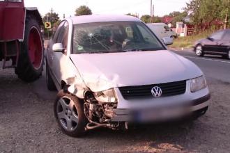 Persoane lovite cu mașina de un șofer, când se aflau la o terasă din Iași. VIDEO