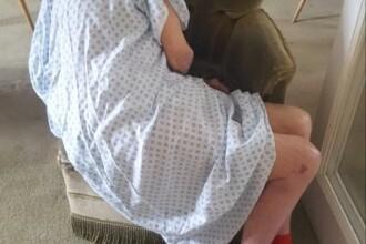Imaginea care stârnește revoltă. Bătrân de 96 de ani, abandonat într-un fotoliu, după ce a fost externat