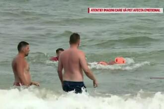 Un bărbat s-a înecat la Mangalia sub privirile soției sale, după ce a intrat în marea agitată