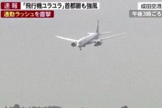 Momentul șocant în care un pilot aproape ratează aterizarea din cauza vântului puternic. VIDEO