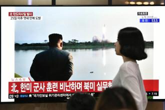 Coreea de Nord are un nou sistem de lansare de rachete. Kim Jong-un, prezent la teste