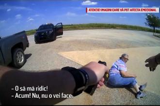 Bătrână pusă la pământ şi electrocutată de un poliţist. Video cu confruntarea