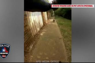 VIDEO. Momentul în care un polițist, speriat de un câine, împușcă mortal o femeie