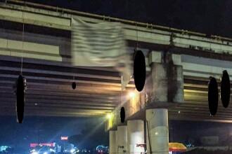 Masacrul comis de un cartel mexican: 9 cadavre atârnate de un pod. Mesajul traficanților